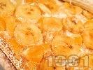 Рецепта Бананов пудинг с грис и сметана